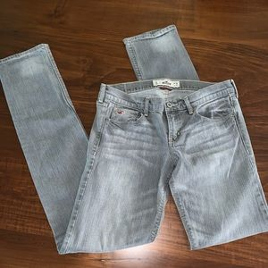 Hollister Gray Tall Skinny Jeans Size 28